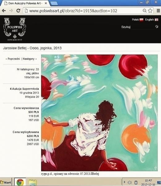 Betlej, design, price, auction,